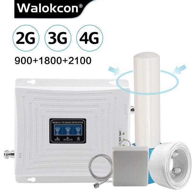 무지 향성 안테나 2g 3g 4g 트라이 밴드 신호 부스터 GSM 900 1800 2100 GSM 3g LTE 셀룰러 리피터 GSM 4G LTE 증폭기