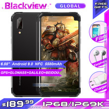 "Blackview BV6100 6.88"" Big Screen IP68 Waterproof Smartphone MTK6761 Quad Core Android 9.0 3GB 16GB NFC Mobile Phone 5580mAh(China)"
