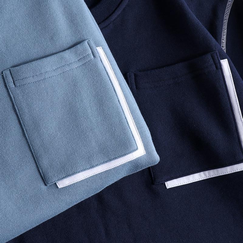 Новинка Осень зима 2020 мужские Модные простые толстовки с буквенным