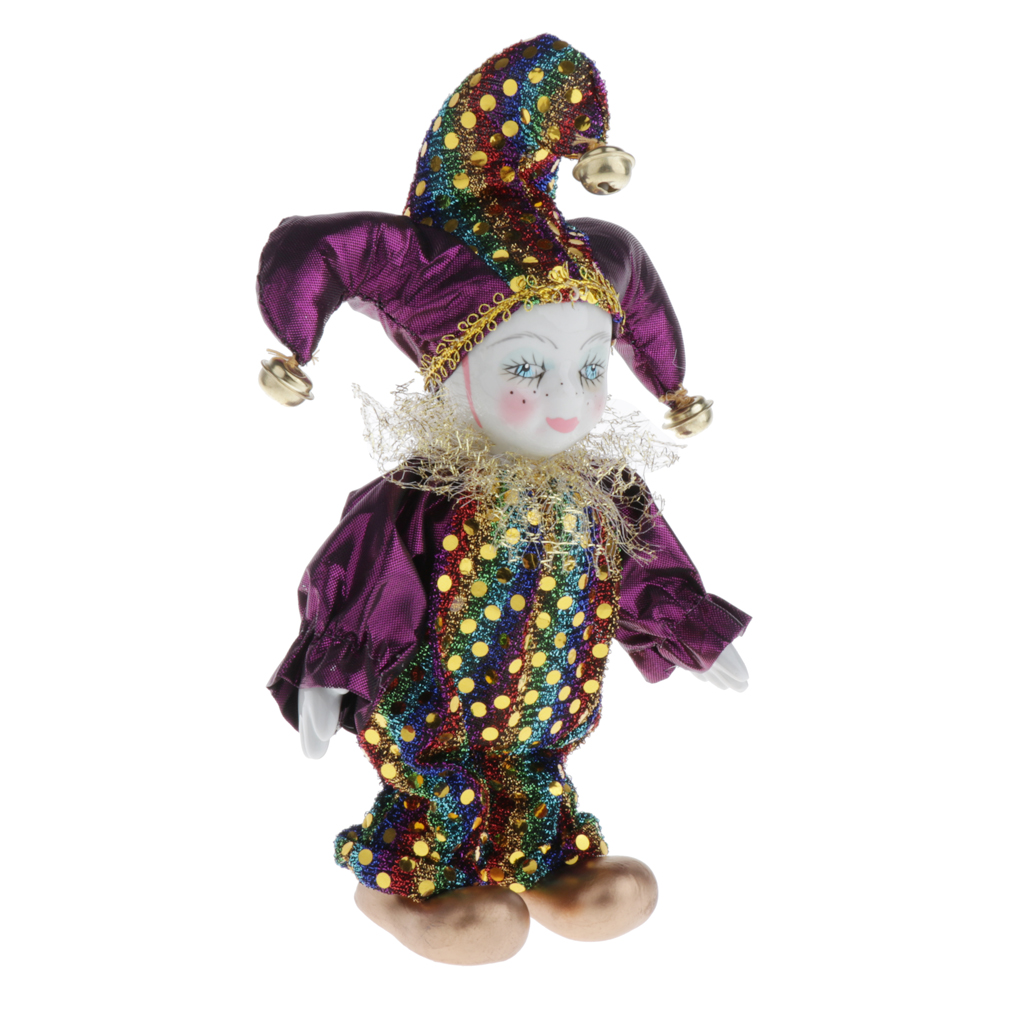 Italienische Puppe Porzellan Triangel Clown Figuren Artware Fit für Valentinstag Geschenk, für Home Office Display Dekor Ornamente