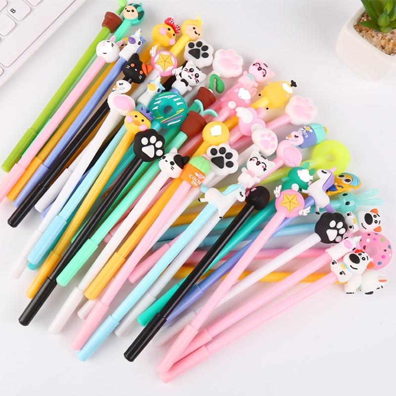 50 PCs Creative Cartoon Writing Tool Cute Neutral Pen Office Stationery Student Signature Pen Wholesale Gel Pens    - AliExpress