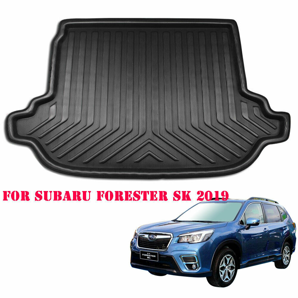 BBQ@Fuka Auto Car Accessories For Subaru Forester SK 2019 2020 Cargo Liner Boot Tray Rear Trunk Floor Mat Tray