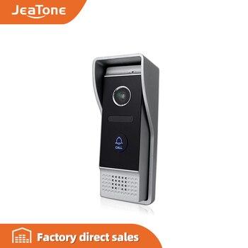 JeaTone 4-Wired Video Door Phone call panel 1200TVL Outdoor Doorbell IP65 Waterproof 3.7MM lens Call Panel Video IR Night Vision