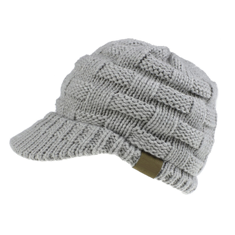 Female Soft Knitting Caps Warm Solid Ladies Beanie Cap Solid Ribbed Knit Beanie Women Ponytail Beanies Autumn Winter Hats 4