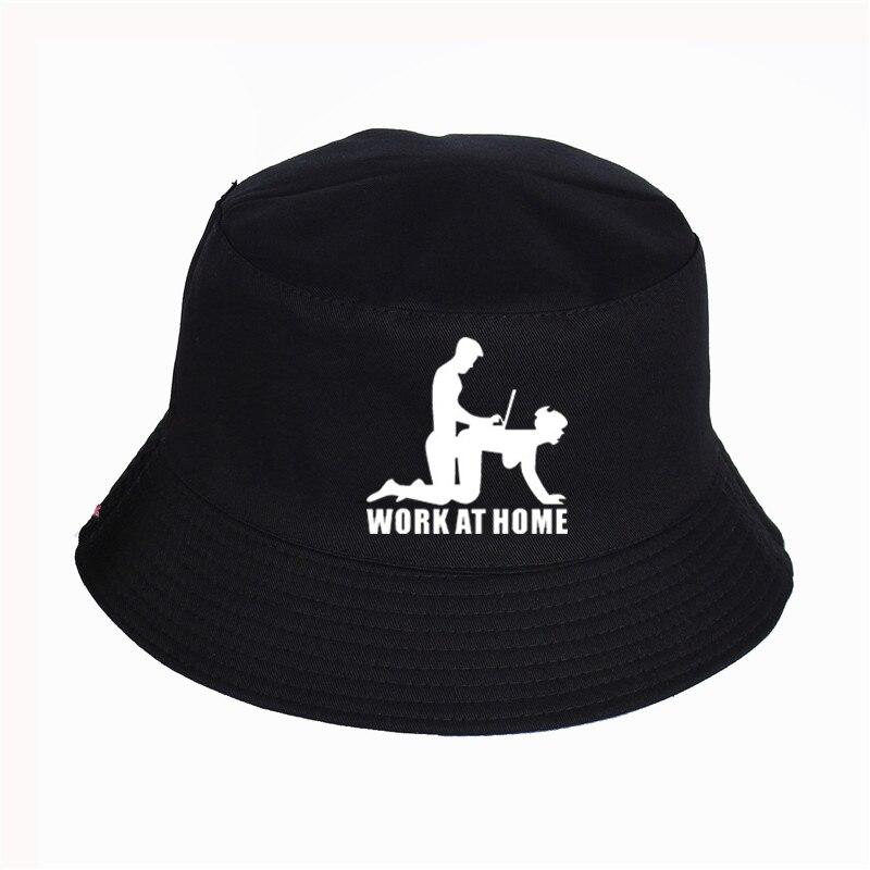 W WOKE AT HOME GEEK Print Hat Women Mens Panama Bucket Hat WOKE AT HOME GEEK LOGO Design Flat Sun Visor Fishing Fisherman Hat