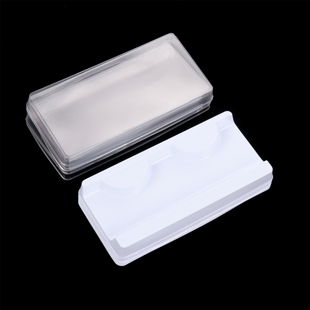 10pcs 25mm Empty Eyelash Storage Case Lashes Box Container Holder Compartment For Professional Makeup False Eyelash Care
