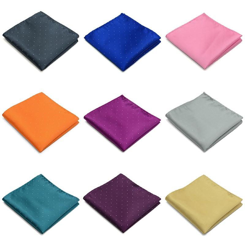 Vintage Men British Light Color Pocket Square Handkerchief Male Elegant Chest Towel For Suit Wedding Party Accessories