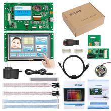 5 TFT LCM display module with CPU & serial port,  work any MCU/ microcontroller