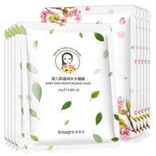 10Pcs IMAGES Skin Care Peach Blossom Plant Facial Mask Moisturizing Oil Control Blackhead Remover Wrapped Face Masks