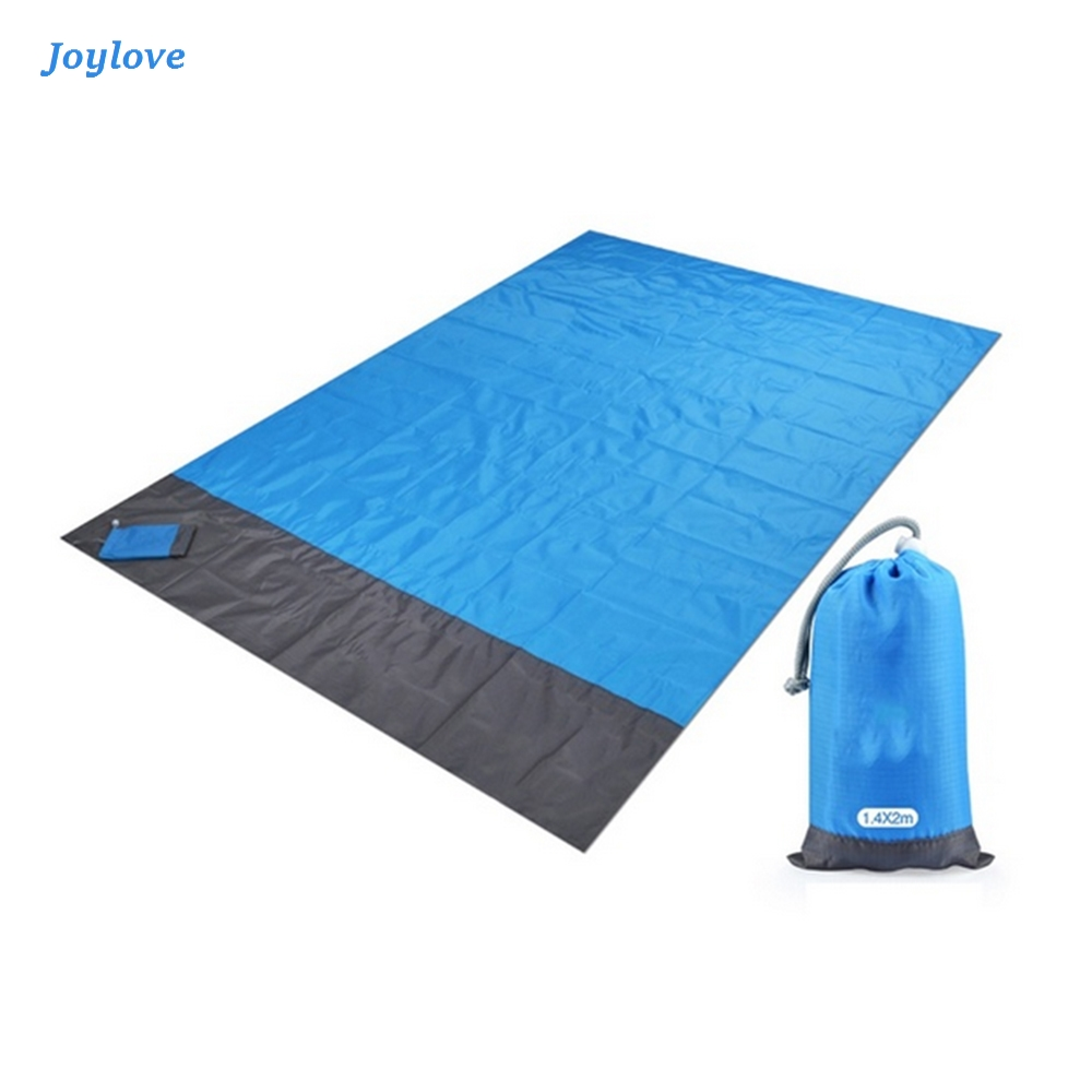 JOYLOVE Waterproof Pocket Beach Mat Folding Camping Mat Portable Lightweight Outdoor Picnic Mat Sand Beach BlanketSand Free