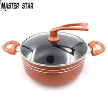 Master Star New 4L Copper Soup Pot Frying Pan Non-stick Coating Pot Gas Cooker Factory outlet