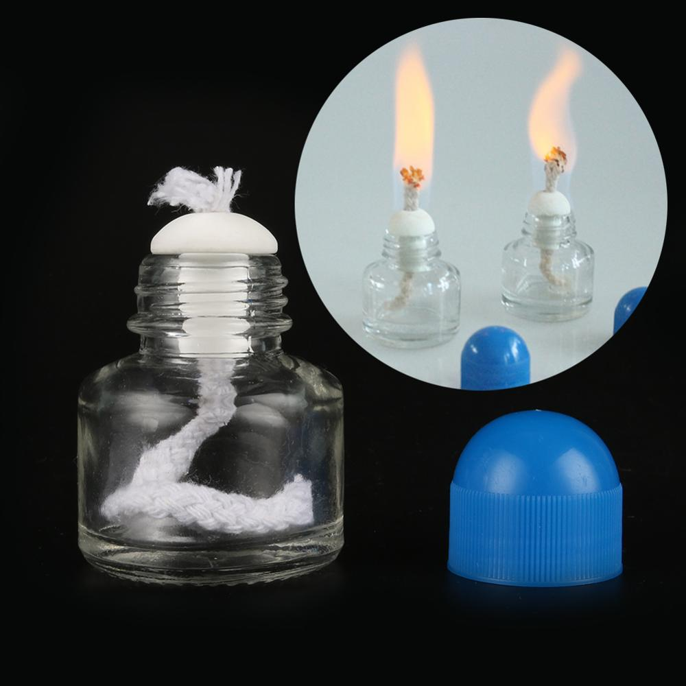6.5cm*4.3cm 25ML Glass Alcohol Burner Lamp Glass Chemistry Laboratory Heating Equipment Educational Supplies