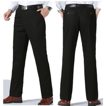 men's casual pants fitness straight long