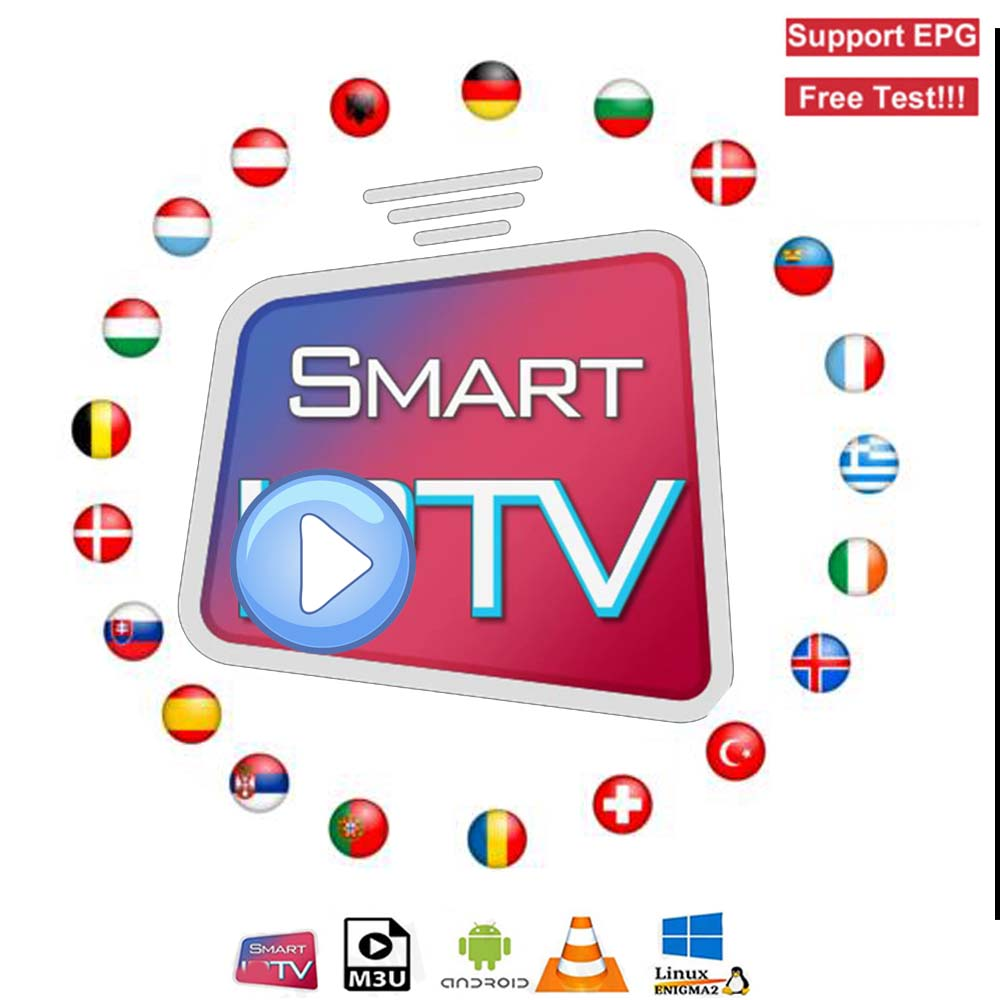 12 Months One Year  Iptv Subscription Hd Europe Arabic Internet Usa Canada Italy Spain Android America Code Iptv Smart M3u
