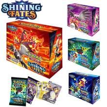 Takara tomy 2021 novo 360 pçs pokemon tcg: brilhando destinos booster caixa de cartão de negociação jogo coleção pokemons brinquedos