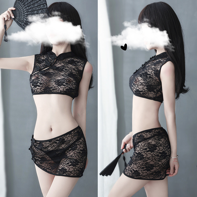 Porno Lace Transparent Baby <font><b>Dolls</b></font> Women <font><b>Cosplay</b></font> <font><b>Lingerie</b></font> <font><b>Sexy</b></font> Hot Erotic Costumes Cheongsam Uniforms Lenceria Erotica Mujer Sexi image