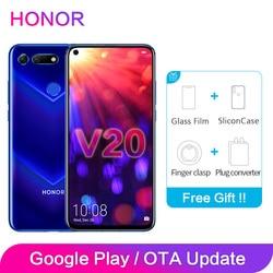 Honra V20 6GB 8 ROM GB 128GB NFC Suporte Global Google Play Turbinar 2310x1080P 6.4 polegada de Tela Cheia Câmera Smartphone 48MP