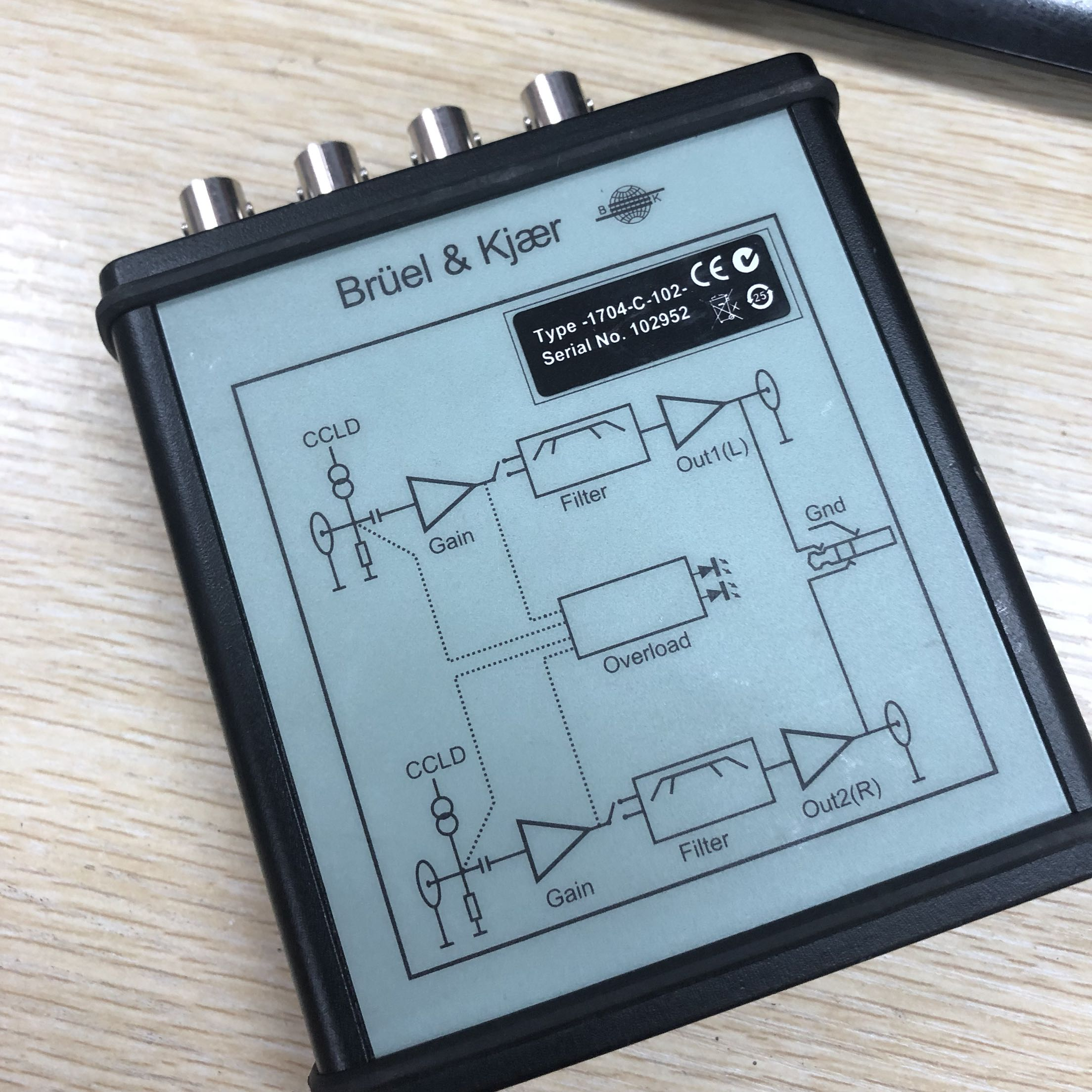 Second-hand Not Brand-new Danish B&K1704-C-102 Signal Amplifier Signal Conditioner