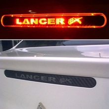Carbon Fiber Brake Sticker For Lancer Ex 9 10 High Positioned Rear Brake Lights stickers