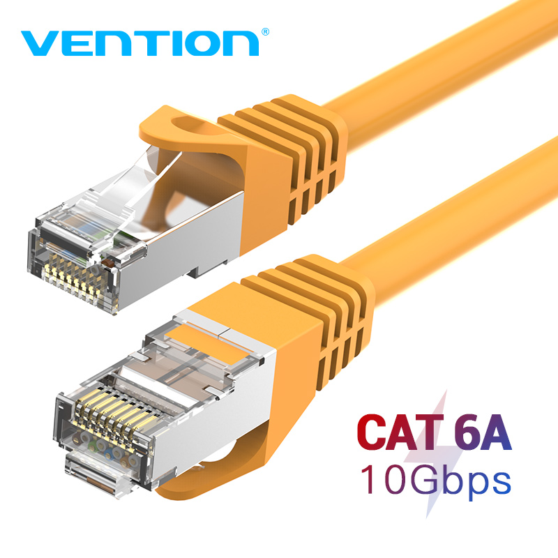 Vention CAT6A Ethernet Cable SSTP RJ45 Lan Network Cable 10 Gigabit High Speed 500MHz Cat 6a Patch Cord For Modem Router Cable