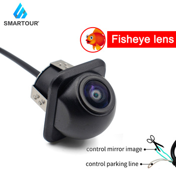 Smartour Car 170 degree wide angle reversing camera fisheye starlight night vision rear view backup camera smartour hd ccd fisheye lens rear view camera ahd 1080p night vision backup parking waterproof for reversing monitor