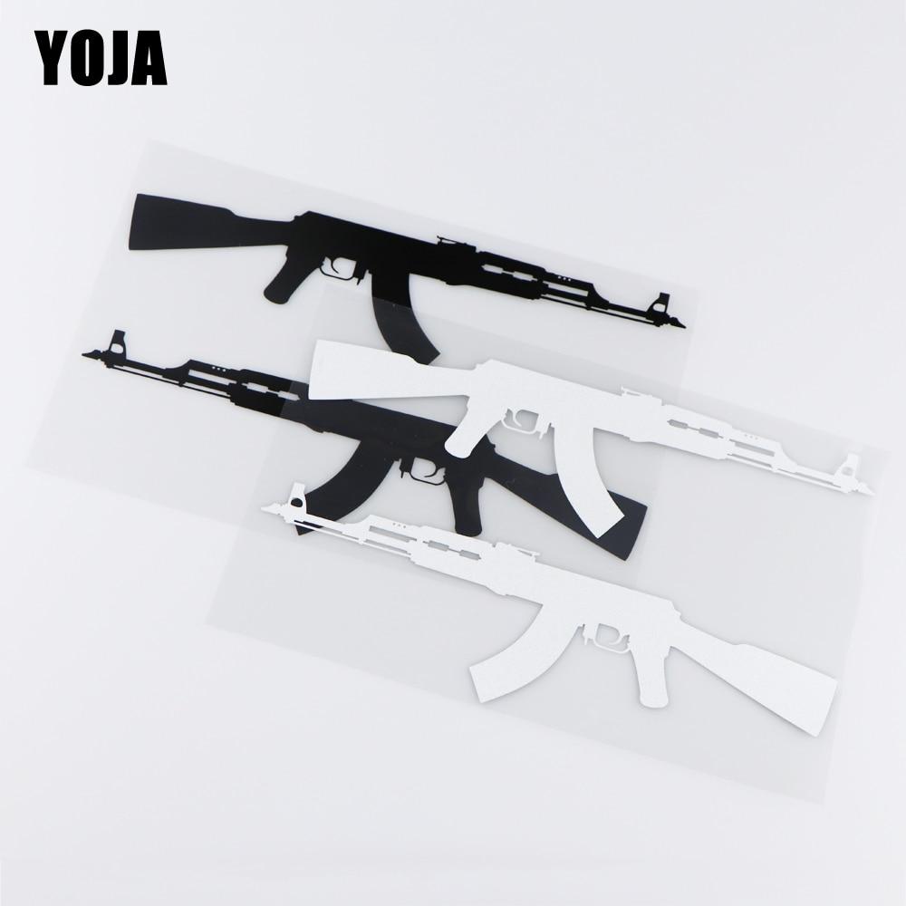 YOJA 22X13.7CM Cartoon Gun Vinyl Decal Personality Decor Car Sticker ZT2-0052