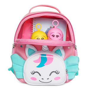 Image 2 - Cocomilo 3D Cartoon Unicorn Kids School Bag Kawaii Soft Pink Unicorn Cute Kindergarten Backpack Toddler Baby Bag Children Gift