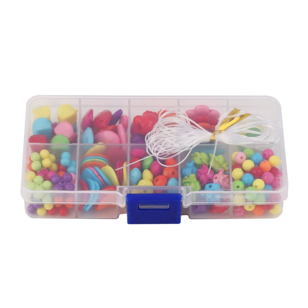 200 Beads Box-packed Set Plastic Toys Colorful Candy Shape Flower Star Shape Different Style Beads Decoration