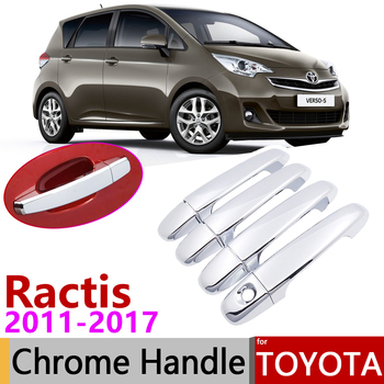 Toyota Ractis verso-s uzay Verso Subaru Trezia 2011 ~ 2017 krom kapı kulp kılıfı araba aksesuarları çıkartmalar Trim seti 2016