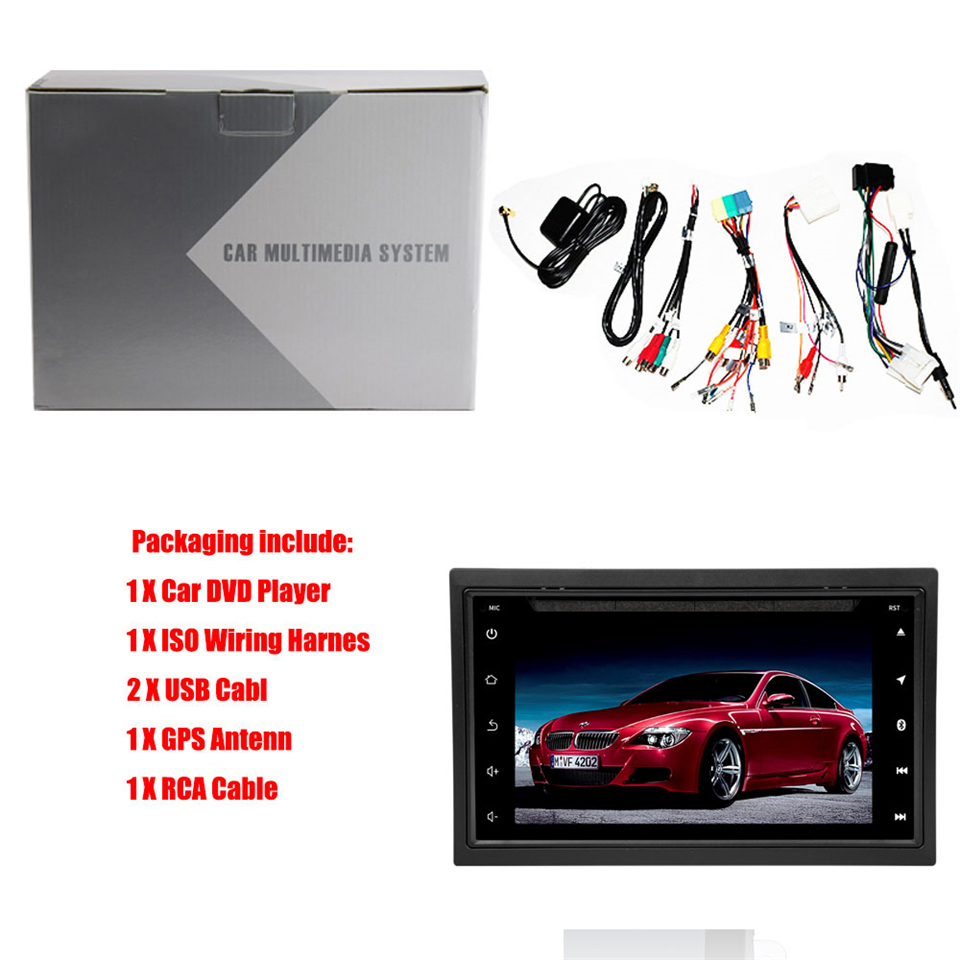 Android 7 1 2 Din Car Multimedia Player Navigation Stereo Car Radio DVD For VW Golf Polo Tiguan Passat B6 B7 SEAT Leon Octavia in Car Multimedia Player from Automobiles Motorcycles