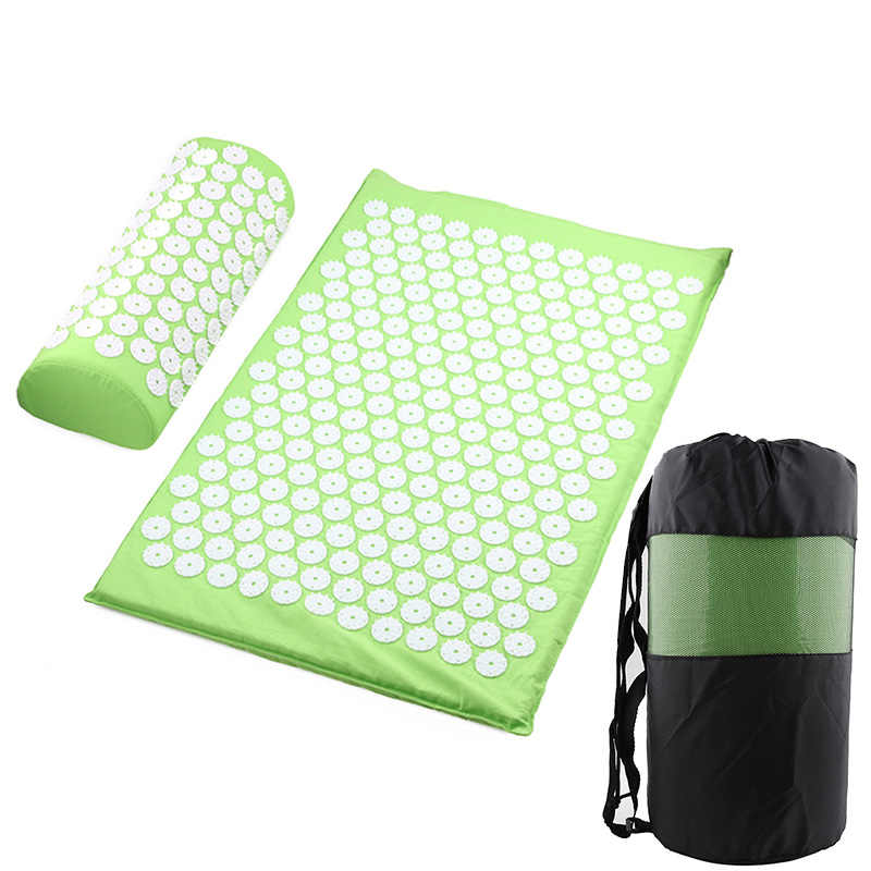 Masseur coussin Massage tapis de Yoga acupression soulager le Stress dos douleur du corps tapis de pointe Acupuncture Massage tapis de Yoga