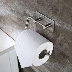 Toiletrolhouder Toiletrolhouder Zonder Boren Papier Houder Zelfklevende Wc Papier Rolhouder Rvs Toi-in Badkaker Haken van Huis & Tuin op