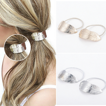 Yanqueens 2 pcs Leaves Pendant Hair Clips Hairpins Hair wear Accessories 2