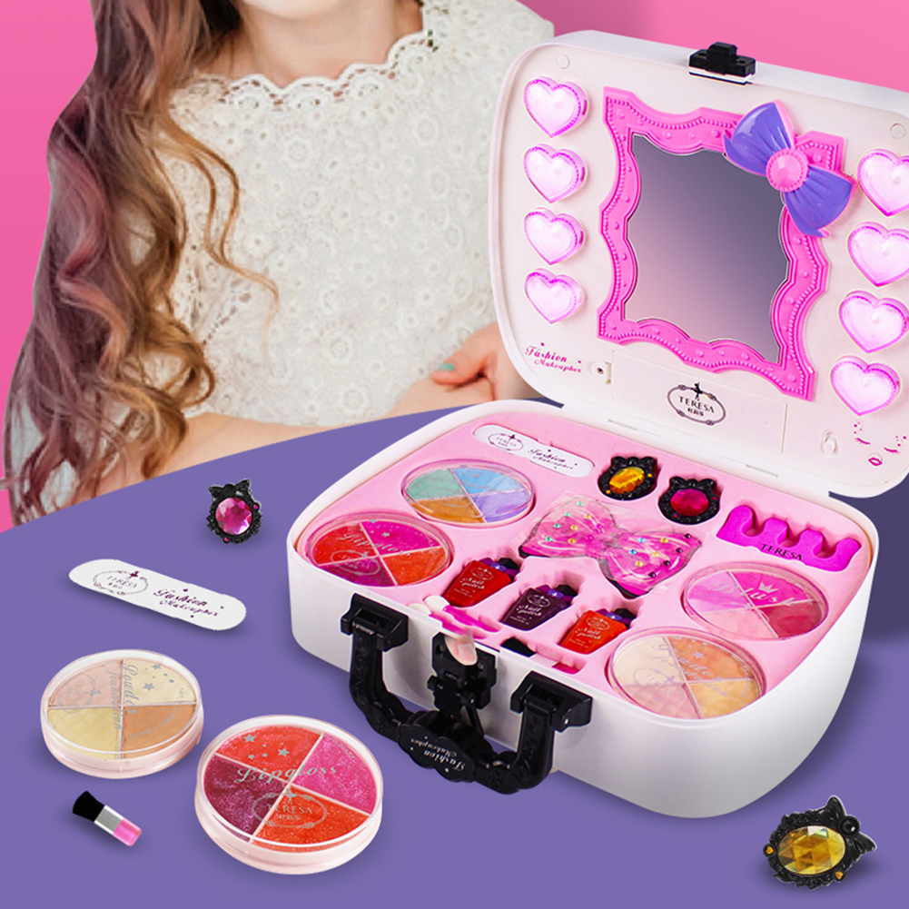 Детские растворимые в воде набор кисточек для макияжа комплект Дети ролевые игры игрушка Контурный карандаш для глаз, для девушек, тени для ...