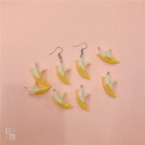 10 teile/paket Harz Banane Obst Ohrring Charme In Schmuck Machen