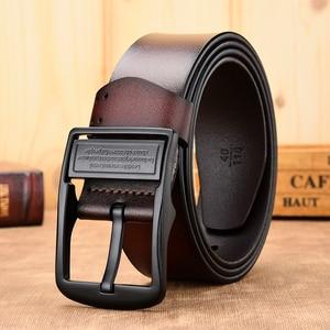 Image 4 - [DWTS] حزام حزام جلد الذكور الرجال الذكور حزام جلد طبيعي أحزمة للرجال البقر جلد طبيعي الفاخرة حزام الرجال حزام