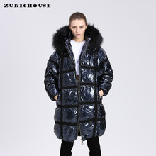 Winter 90% White Duck Down Coat Women Hooded Long Jacket 202