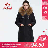 Astrid 2019 nuovo Inverno di arrivo giù donne giacca con un collo di pelliccia della tuta sportiva di alta qualità a lungo delle donne di modo del cappotto di inverno FR-7049
