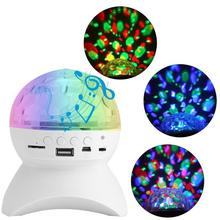 Led Disco Light Stage Light Music Stage Light U disk Memory Card Bluetooth Speaker Connection DJ Party Bar Xmas Halloween Decor