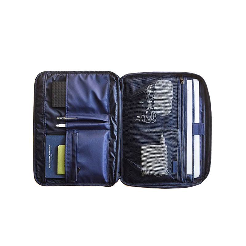 Fashion Men Business Briefcase Bag Shockproof Thicken Travel 13 Inch Laptop Inner Bag Protector A4 Document File Storage Bag