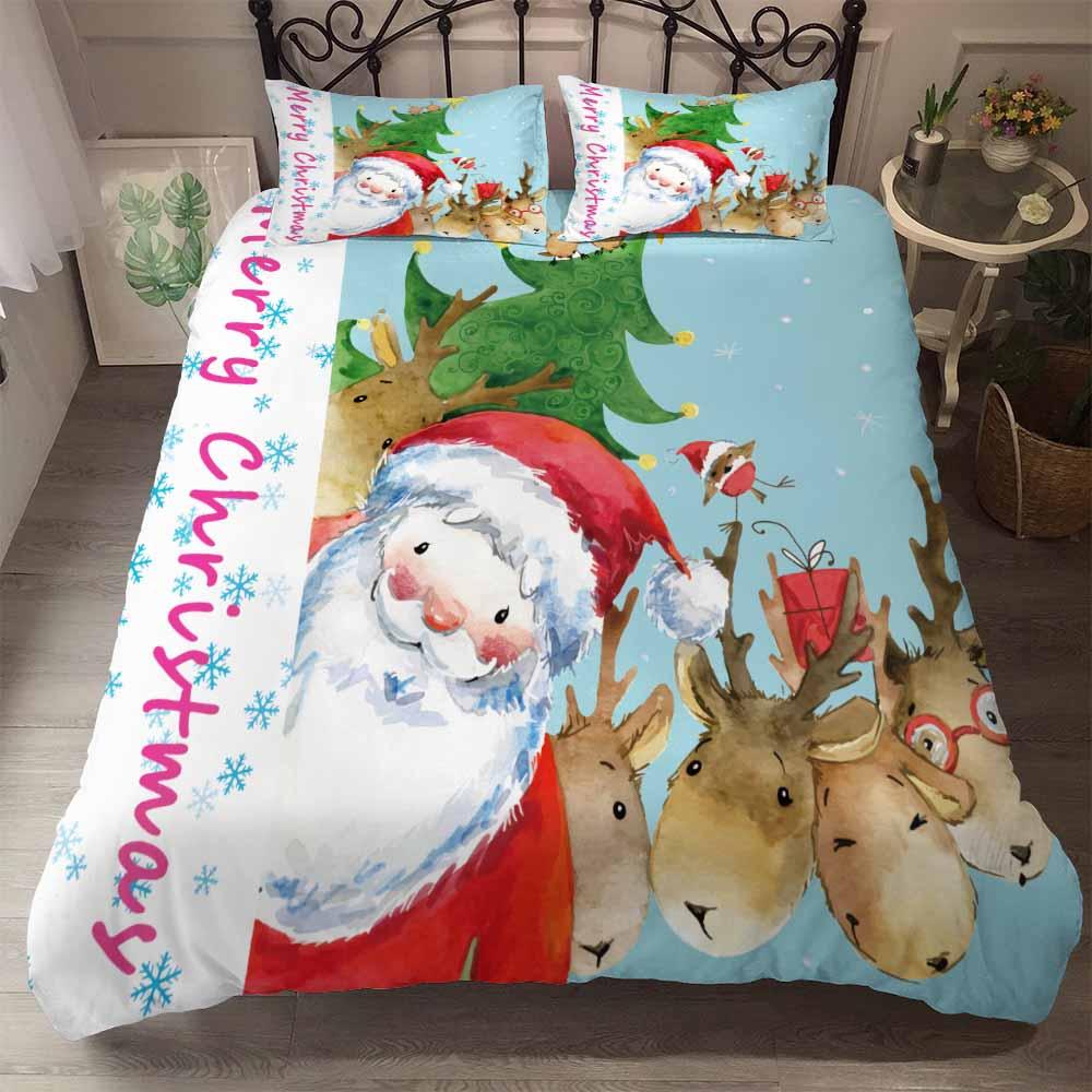 BEST.WENSD A02 Quality Super Soft Unicorn Bedding Cartoon Duvet Cover Set 3D Dinosaur World Bed Set 2/3pcs Twin Kids Bedding Set