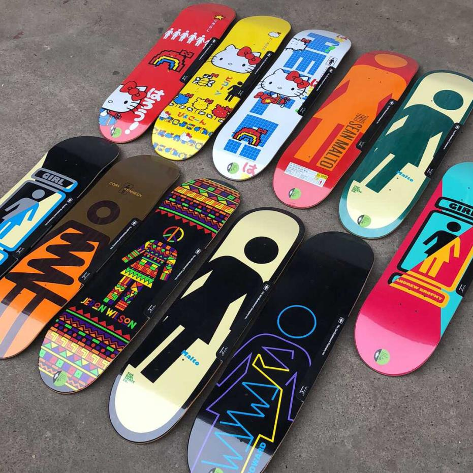 1pc Good Quality Girl Skateboard 7 Plies Of Canadian Maple Epoxy Glue Toy Machine Skateboard Deck Professional Level For Adults