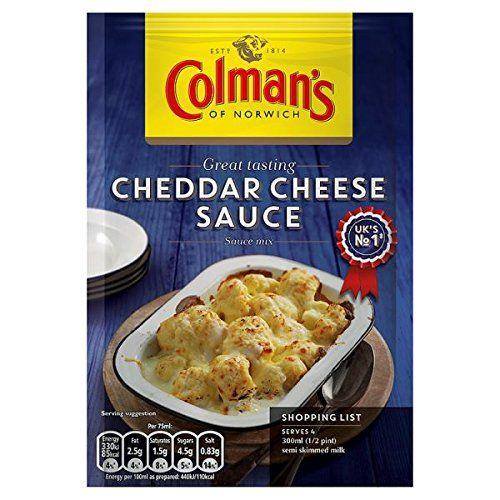 Cheddar 40g Mezcla La Salsa De Queso De Colman (paquete De 12 X 40 G)