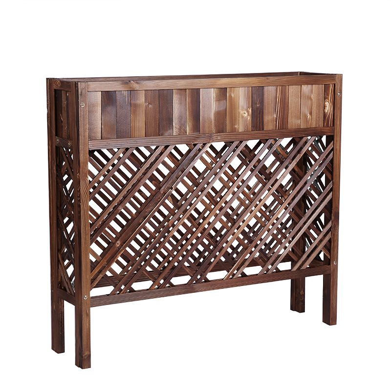 Anticorrosive Wood A Living Room Outdoors Flower Groove Decorate Enclosure Outdoor Courtyard Solid Wood Fence Flower Box