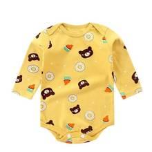 2021 yenidoğan bebek erkek ve kız giysileri uzun kollu üçgen pamuk romper, sonbahar ve kış pijama