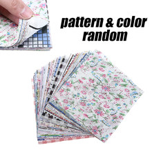 Unids/set de retazos cuadrados de flores de tela, Material de algodón, costura artesanal, tela de retales DIY, costura de tela, 10cm * 10cm, 100