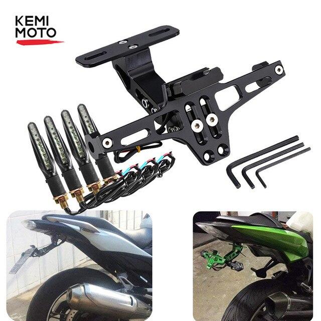 دراجة نارية الخلفية لوحة ترخيص جبل حامل و بدوره إشارة ضوء لهوندا Kawasaki Z750 Z800 لياماها MT07 MT09 MT10 R1 3
