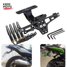 Suporte de montagem da placa de licença traseira da motocicleta, e luz de mudança de direção para Honda para Kawasaki Z750 Z800 e para YAMAHA MT07 MT09 MT10 R1 3