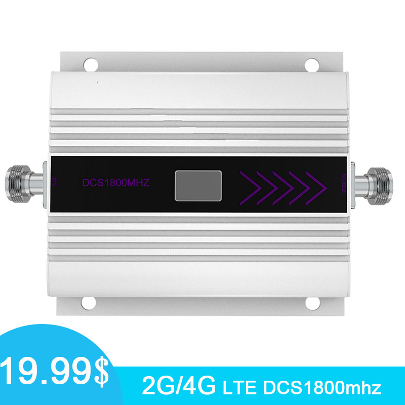 Mini 2g 4g 1800 lte dcs repetidor amplificador de impulsionador de sinal de célula 4g 1800mhz faixa 3 celular amplificador de impulsionador de sinal display lcd/