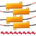 4PCS 50W 6Ohm LED Load Resistors LED Turn Signal Resistor Flasher Adaptor Flash Fix Error for LED Turn Signal Lights